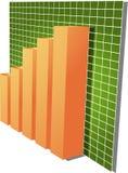 Illustrazione finanziaria del diagramma a colonna illustrazione di stock
