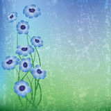 Illustrazione floreale astratta Fotografia Stock