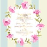Illustrazione floreale del cerchio ornament Fotografia Stock