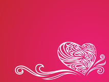 Illustrazione floreale del cuore Fotografie Stock Libere da Diritti