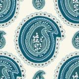 Illustrazione floreale del damasco di Paisley del mughetto disegnato a mano Vettore senza giunte illustrazione di stock