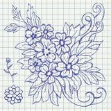 Illustrazione floreale del drawign Fotografia Stock