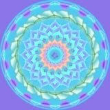 Illustrazione floreale del reticolo rotondo dell'ornamento della mandala Fotografia Stock Libera da Diritti