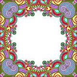 Illustrazione floreale dell'annata frame Fotografia Stock
