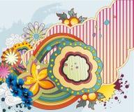 Illustrazione floreale di fantasia Immagine Stock