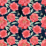 Illustrazione floreale senza cuciture dell'acquerello Fotografie Stock