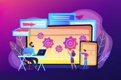 Illustrazione fondante di vettore di concetto dell'insetto della multipiattaforma illustrazione di stock