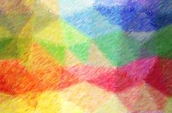 Illustrazione fondo della pittura di copertura della matita di colore verde, blu, giallo e rosso di alto, digitalmente generato illustrazione di stock