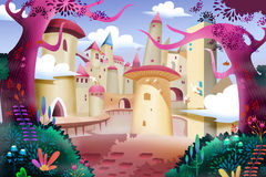 Illustrazione: Forest Castle Immagine Stock