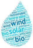 Illustrazione a forma di di goccia grafica sostenibile di energia Fotografie Stock