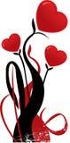 Illustrazione a forma di di vettore del fiore del cuore dei biglietti di S. Valentino illustrazione vettoriale