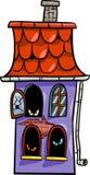 Illustrazione frequentata del fumetto della casa Immagini Stock Libere da Diritti