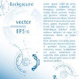 Illustrazione futuristica astratta per fondo con gli ingranaggi e le ruote meccanici, blu Fotografia Stock Libera da Diritti