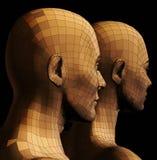 Illustrazione futuristica delle coppie illustrazione di stock