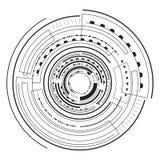 Illustrazione futuristica di vettore di schizzo dell'interfaccia royalty illustrazione gratis