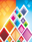 Illustrazione geometrica di strutture Fotografie Stock