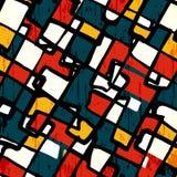 Illustrazione geometrica di vettore degli oggetti colorata graffiti Immagini Stock