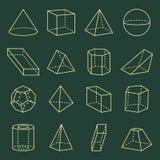 Illustrazione geometrica di vettore della raccolta 3D di forme Royalty Illustrazione gratis