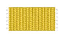 Illustrazione gialla del tappeto, isolata su fondo bianco Vista superiore della coperta Immagine Stock