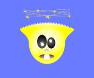 Illustrazione gialla pazza di vettore del fronte Fotografie Stock