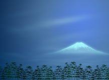 Illustrazione giapponese di paesaggio di notte Fotografia Stock