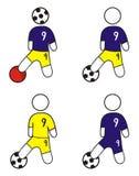 Illustrazione: giocatore di football americano Immagine Stock