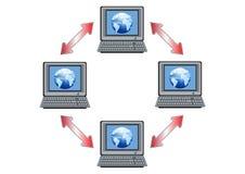 Illustrazione globale della rete di calcolatore Fotografia Stock Libera da Diritti