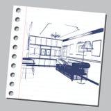 Illustrazione grafica con architettura decorativa 15 Immagini Stock