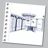 Illustrazione grafica con architettura decorativa 24 Fotografie Stock