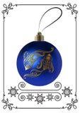 Illustrazione grafica con la decorazione 19 di Natale illustrazione vettoriale