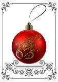 Illustrazione grafica con la decorazione 26 di Natale illustrazione di stock