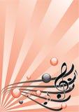 Illustrazione grafica di festival di musica, vettore Fotografia Stock