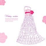 Illustrazione graziosa del vestito illustrazione di stock