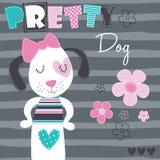 Illustrazione graziosa di vettore del cane Immagini Stock