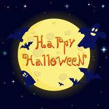 Illustrazione Halloween felice del fumetto sopra Fotografie Stock Libere da Diritti