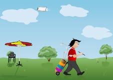 illustrazione il giocatore di un golf fotografia stock libera da diritti