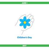 Illustrazione Il giorno dei bambini Fotografia Stock