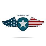 Illustrazione il giorno del veterano Stati Uniti su un fondo bianco Fotografie Stock