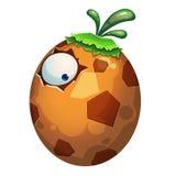 Illustrazione: Il mostro dell'uovo della pianta su fondo bianco Fotografia Stock
