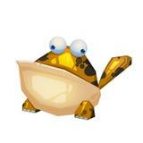 Illustrazione: Il mostro della rana su fondo bianco Fotografie Stock Libere da Diritti