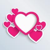 Illustrazione impilata del cuore Fotografia Stock