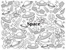 Illustrazione incolore di vettore dell'insieme dello spazio Fotografia Stock Libera da Diritti