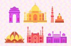 Illustrazione indiana di vettore delle costruzioni illustrazione di stock