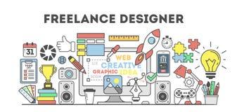 Illustrazione indipendente del progettista illustrazione di stock