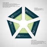 Illustrazione infographic con forma del pentagono illustrazione vettoriale