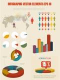 Illustrazione infographic del dettaglio. Immagini Stock Libere da Diritti