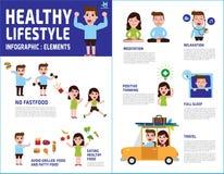 Illustrazione infographic di progettazione dell'elemento di vettore medico di salute illustrazione di stock
