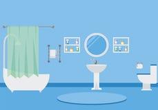 Illustrazione interna di vettore del bagno Fotografie Stock