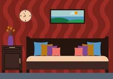 Illustrazione interna di vettore della camera da letto Fotografie Stock