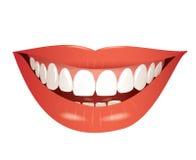 Illustrazione isolata bocca sorridente Fotografie Stock